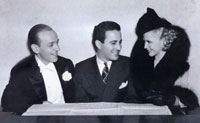 Fred Astaire and Gingers Rogers flank their rehearsal pianist and arranger Hal Borne, in whose papers Michael Feinstein discovers a mysterious manuscript attributed to a major American songwriter.