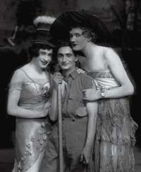 Irving Berlin (center) with cast members from This is the Army.