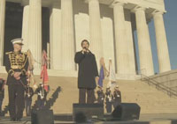 Michael Feinstein and the US Marine Corps Band perform at the Lincoln Memorial