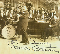 Paul Whiteman and his orchestra performs