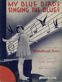 Baby Rose Marie on the sheet music cover for My Blue Birds Singing the Blues