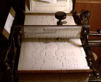 A Leabarjan Music Roll Perforator.