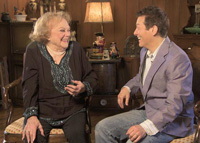 Michael Feinstein visits with entertainer Rose Marie