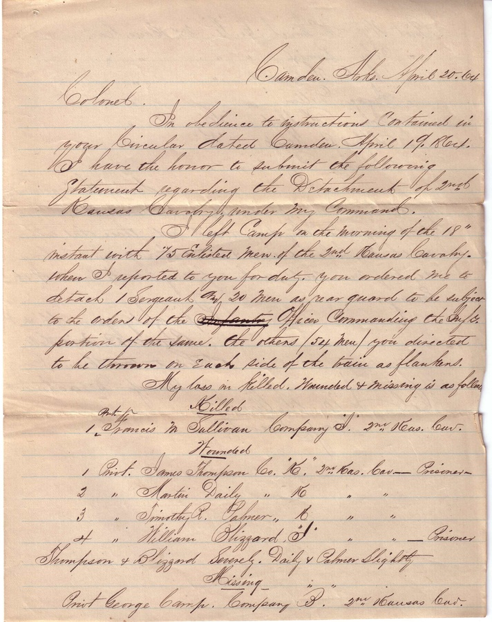 Civil War Letters History Detectives Pbs