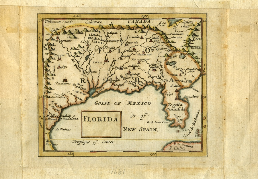 Map De Florida.Florida Map History Detectives Pbs