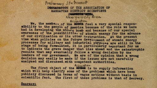 The Manhattan Project: Primary Sources
