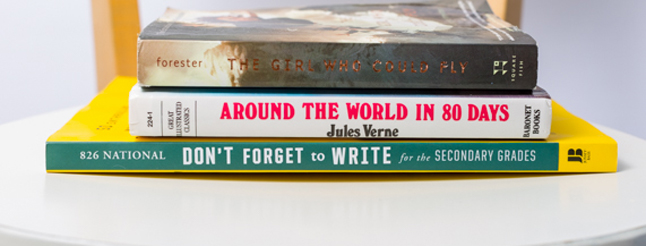 Celebrate National Poetry Month: Create Book Spine Poetry image