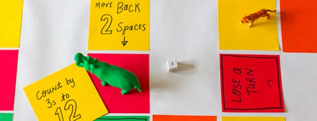 Practice math and literacy skills with a DIY board game. image