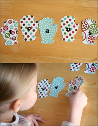 Snow Mittens Letter Scramble 3