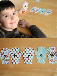 Snow Mittens Letter Scramble 4