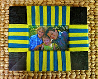 Yarn-wrapped frame completed