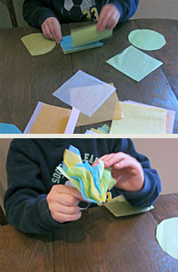 Now Make The Flower Draw A Circle Template About 5 Inches In Diameter And Square X On Piece Of Construction Paper