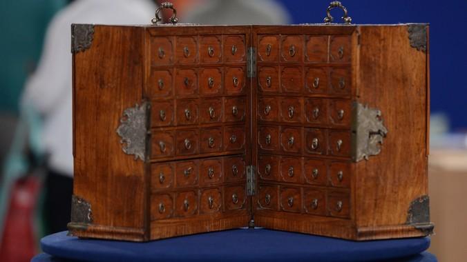 Chinese Export Huanghuali Cabinet, ca. 1740 | Antiques ...