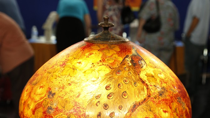 Handel reverse painted lamp ca 1924 antiques roadshow pbs read appraisal transcript aloadofball Choice Image