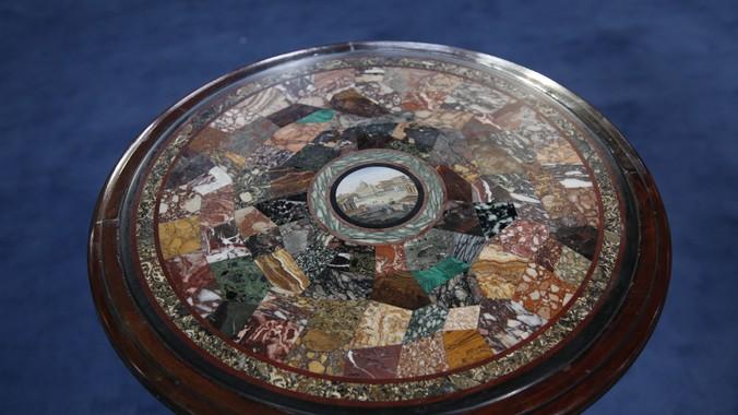 Micromosaic Amp Pietra Dura Table Ca 1860 Antiques