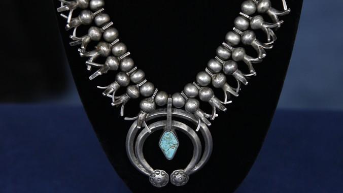 Navajo Quot Squash Blossom Quot Necklace Ca 1910 Antiques