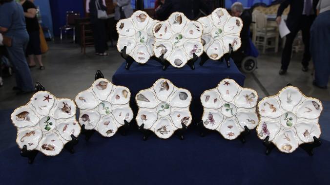 Haviland \u0026 Company Limoges Oyster Plates ca. 1890 & Haviland \u0026 Company Limoges Oyster Plates ca. 1890   Antiques ...