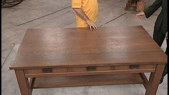 Read Appraisal Transcript - Gustav Stickley Library Table, Ca. 1905 Antiques Roadshow PBS