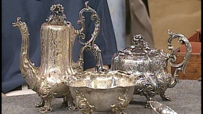 Odiot Sterling Silver Tea Set Ca 1850 Antiques