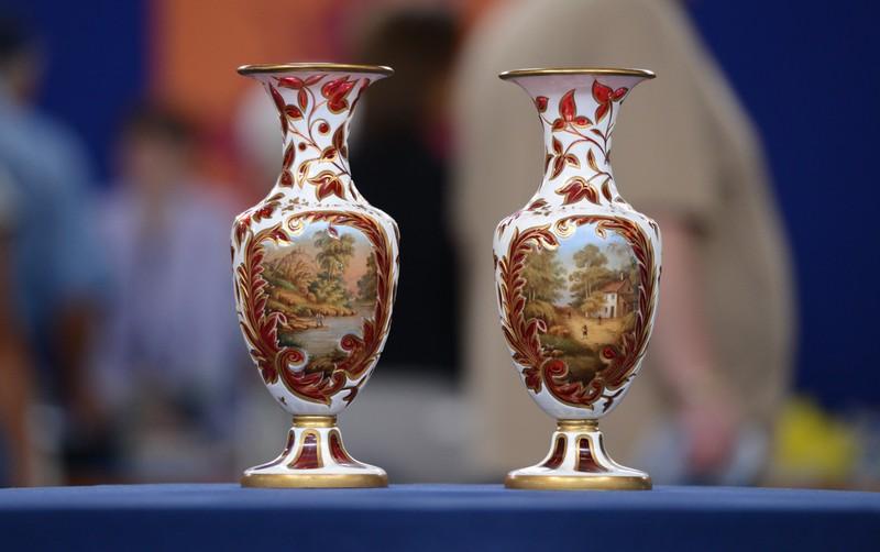 Bohemian Mantel Vases Ca 1880 Antiques Roadshow Pbs