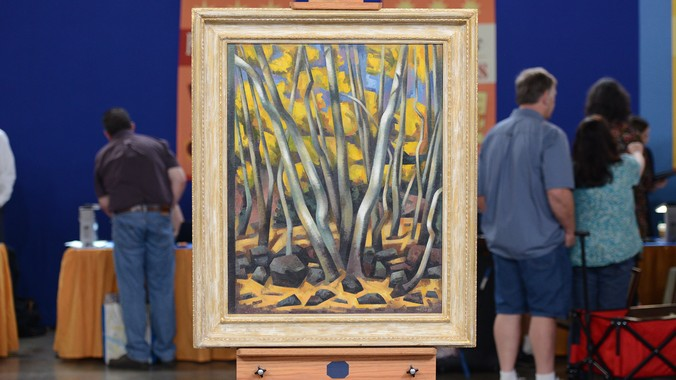 "1947 Loren Mozley ""Aspens"" Oil 
