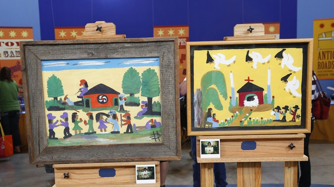 Clementine Hunter Paintings Ca 1980 Antiques Roadshow Pbs