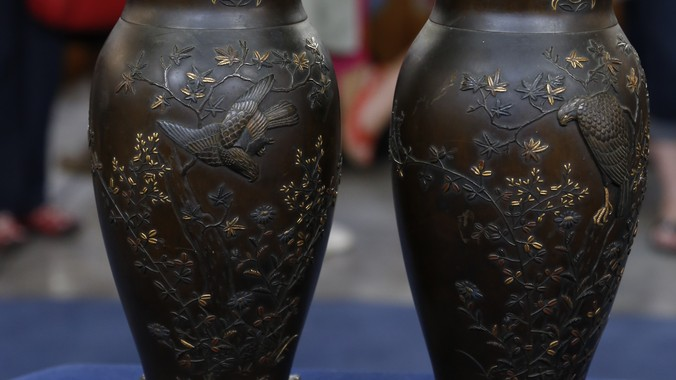 Japanese Mixed Metal Vases Ca 1900 Antiques Roadshow Pbs