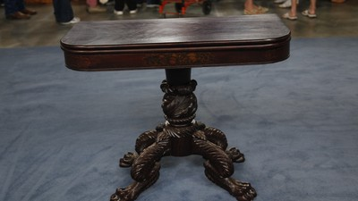New York Empire Card Table, ca. 1825 - Appraisals Antiques Roadshow PBS