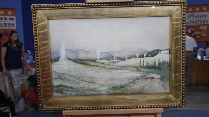 1883 Arthur Brown Quot Yellowstone Quot Watercolor Painting
