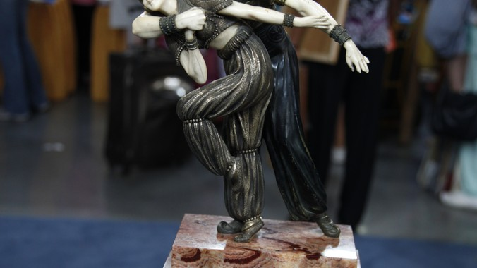 "Cities In Ms >> 1928 Demetre Chiparus ""Persian Dancers"" Bronze   Antiques ..."