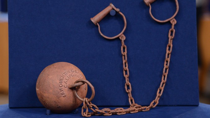 Replica San Quentin Death Row Ball Amp Chain Antiques