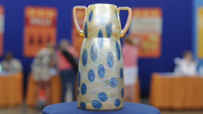 Loetz Glass Vase Ca 1910 Antiques Roadshow Pbs