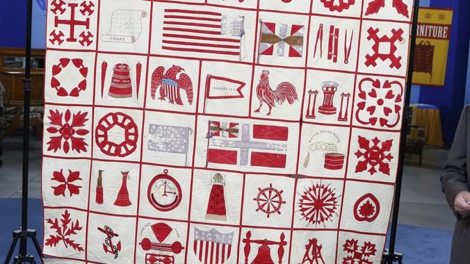 1867 Nautical Quilt   Antiques Roadshow   PBS