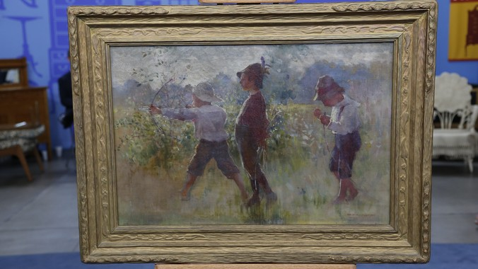 1902 Adam Emory Albright Oil Painting Antiques Roadshow