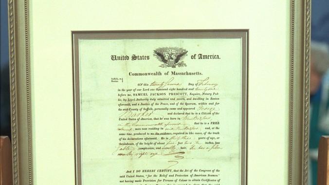 1821 U.S. Citizenship Certificate   Antiques Roadshow   PBS