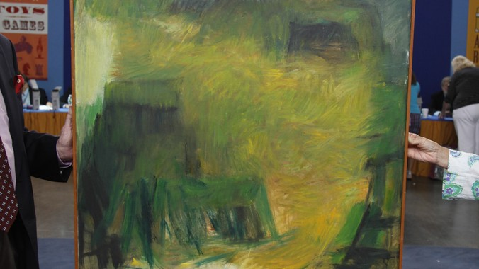 "Best Buy Auction >> Marie Hull ""Yellow Hill"" Oil Painting, ca. 1960 