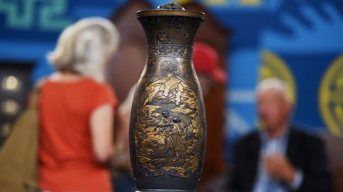 Japanese Komai Iron Gold Vase Ca 1890 Antiques Roadshow Pbs