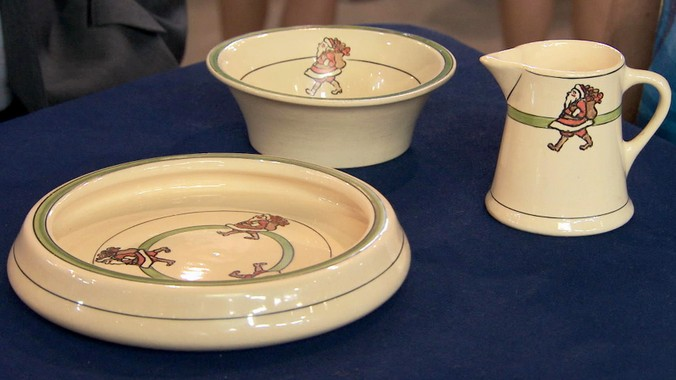 Roseville Pottery Santa Dishes Antiques Roadshow Pbs