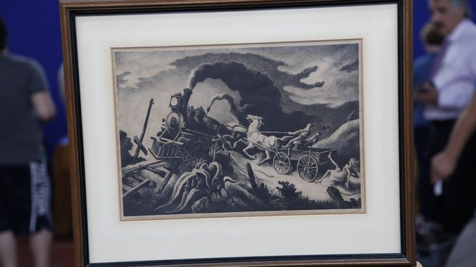 1944 thomas hart benton lithograph | antiques roadshow | pbs
