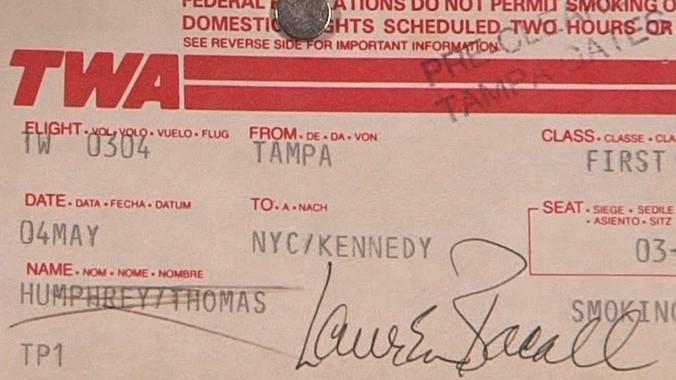 Celebrity Autographed Boarding Passes | Web Appraisal ...