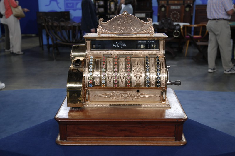 National Cash Register Brass Cash Register Ca 1900 Antiques Roadshow Pbs