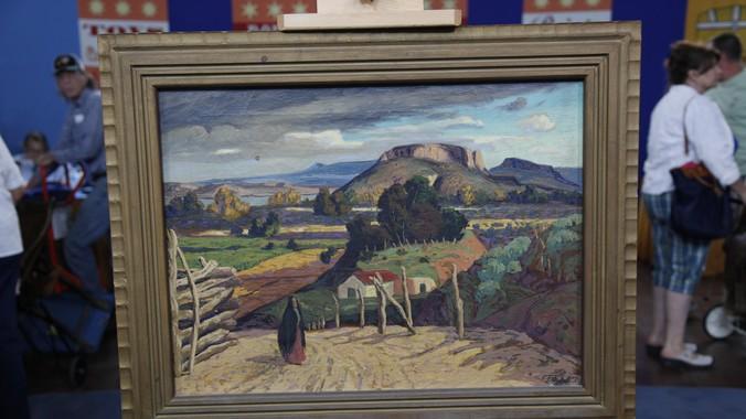 Fremont F Ellis Oil Landscape Ca 1935 Antiques