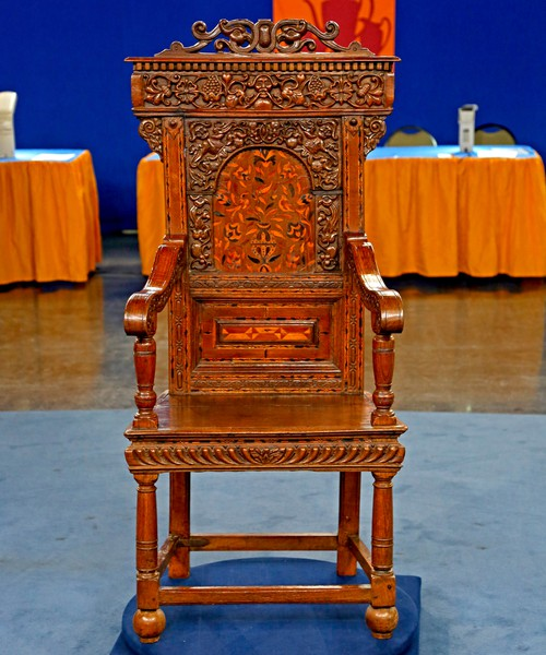 Jacobean-Style Great Chair, Ca. 1890