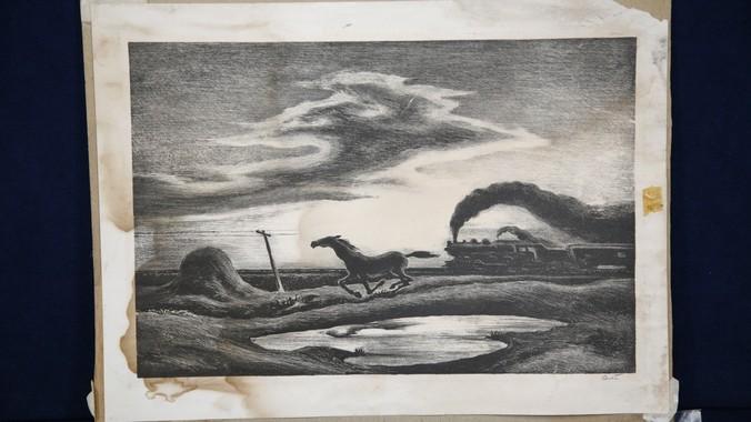 "1942 thomas hart benton lithograph, ""the race"" | antiques roadshow | pbs"