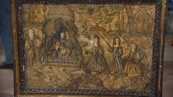 English Stumpwork Embroidery Ca 1660 Antiques Roadshow
