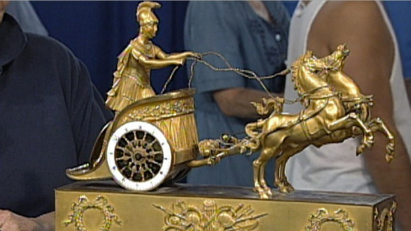 Classical French Chariot Clock Ca 1800 Antiques