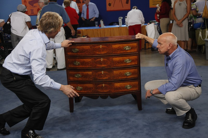 1 of 1 - Federal Bow Front Chest Of Drawers, Ca. 1805 Antiques Roadshow PBS