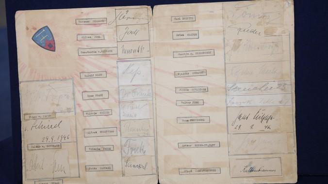 Image result for nuremberg trials signatures