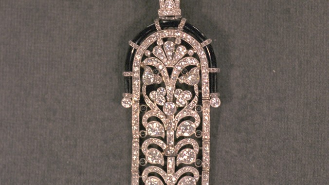 Art Deco Diamond Pendant Brooch Antiques Roadshow Pbs