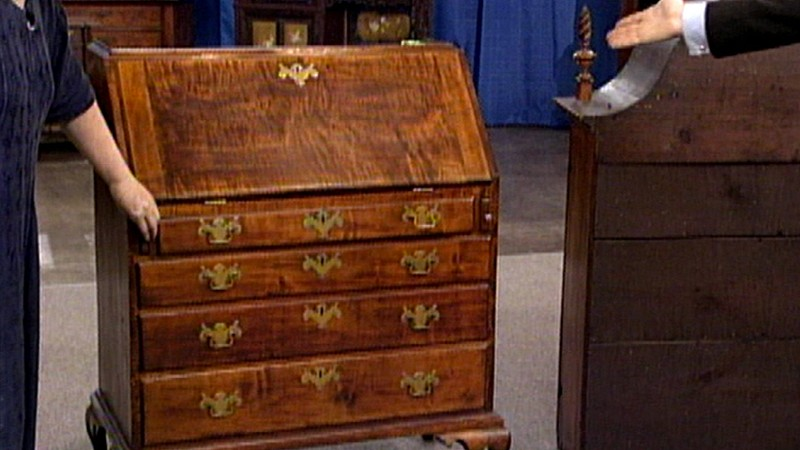 Massachusetts Queen Anne Desk, ca. 1750 - Appraisals Antiques Roadshow PBS